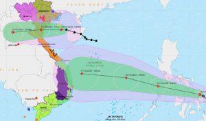 Bão số 7 giật cấp 11 hướng vào các tỉnh Thái Bình – Nghệ An, gây mưa rất to